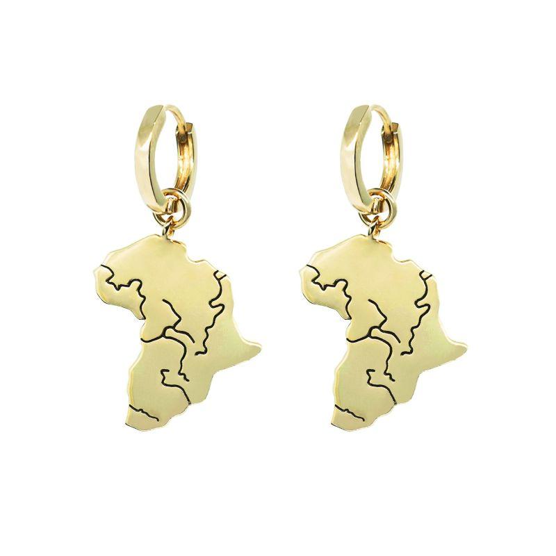 Pawnshop Signature Africa Charm Hoop Earrings image