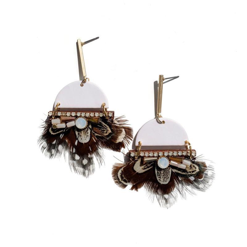 Plume Statement Earrings image