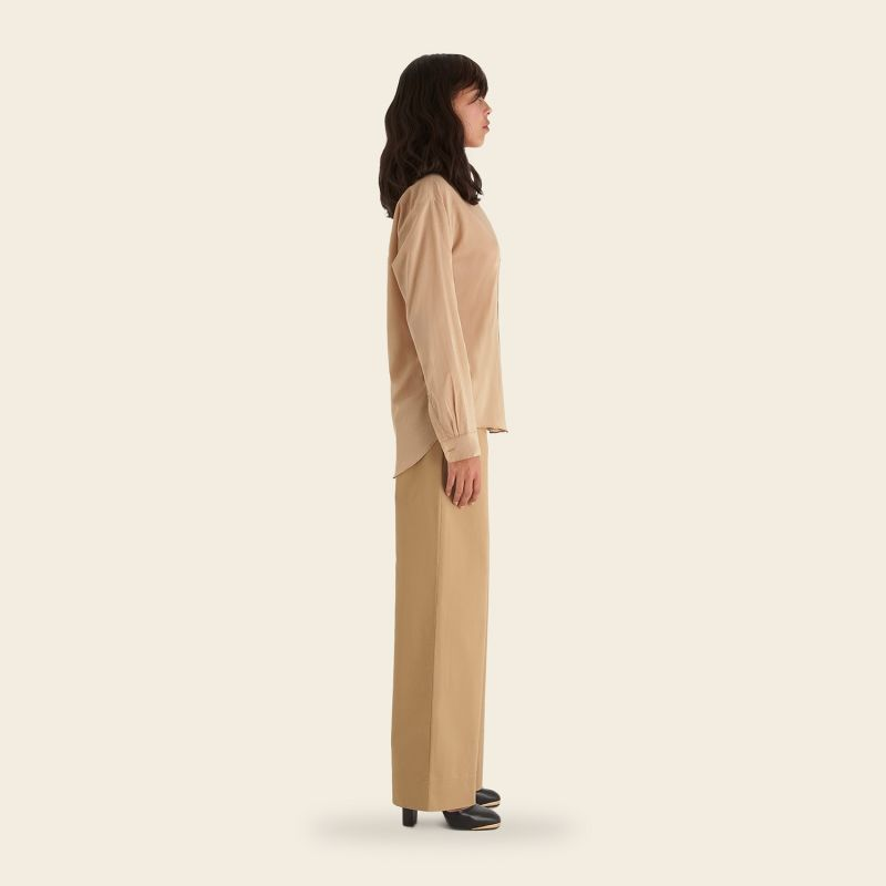 Flannel Sand Cotton Shirt image