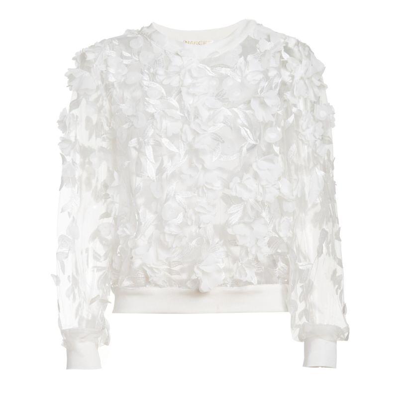 White 3D Flower Top image