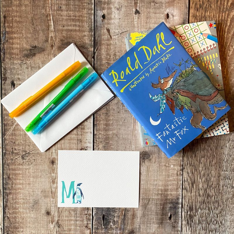 Penguin Letter Notecards: Pack Of 10 image