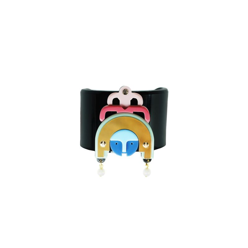 Acrylic Handmade Bracelet Ixchel - Blue image