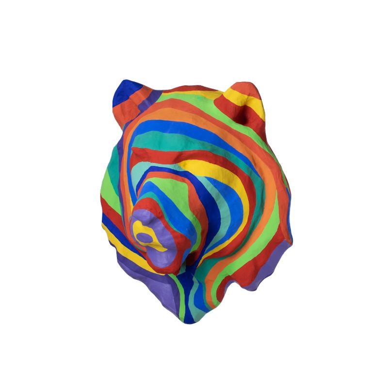 Rainbow Lion Head In Papier Mache image