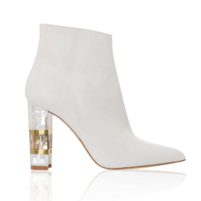 Jasmine Leather Ankle Boot - White image