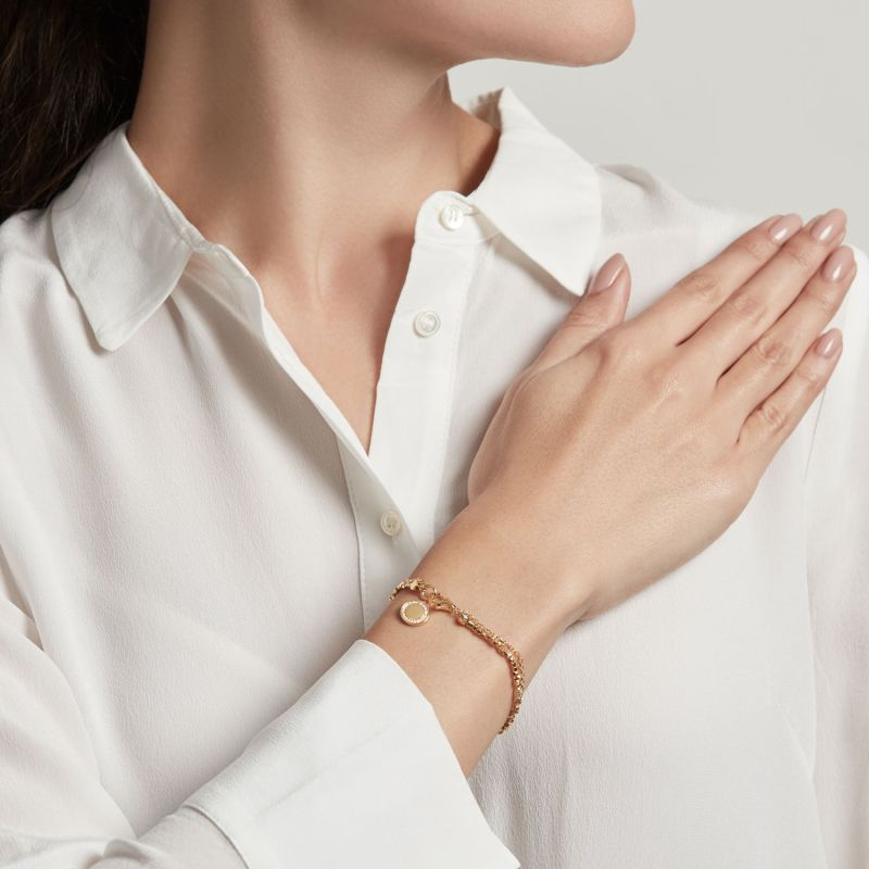 Cosmos Biography Bracelet in Yellow Gold Vermeil image