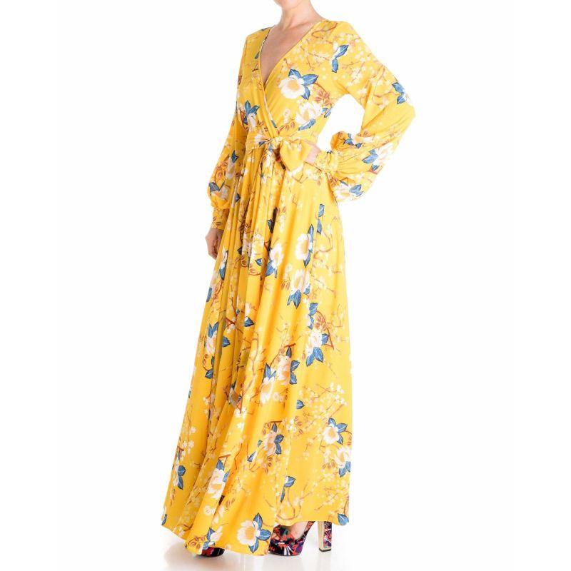 Lilypad Maxi Dress - Yellow & Orange image