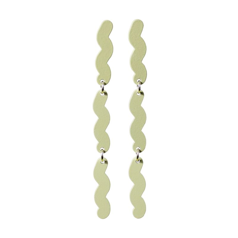 Current Drop Earrings - Foggy Green image