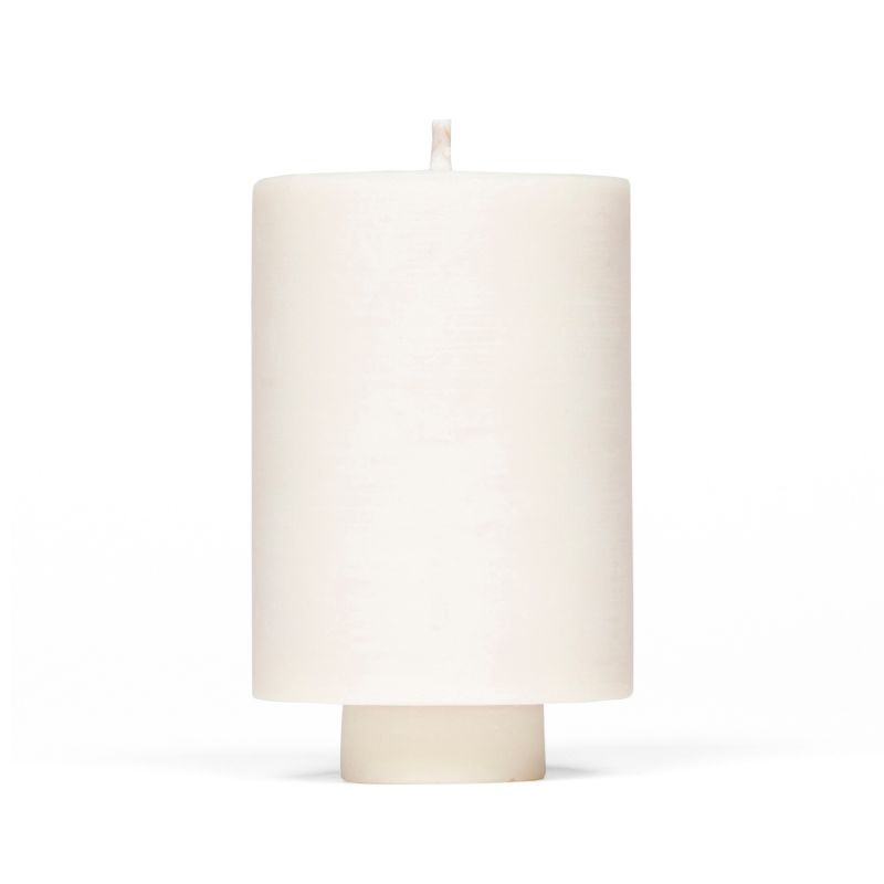 Mid Curious Rose Soy Wax Candle & Concrete Candle Holder In Blush image