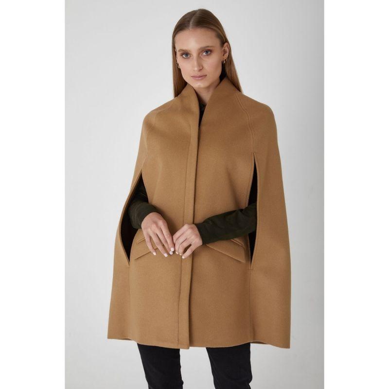 Chelsea Wool Cashmere Cape - Camel image