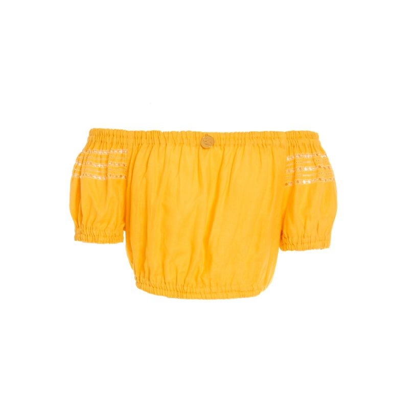 Aksinia Crop Top in Canary Yellow image