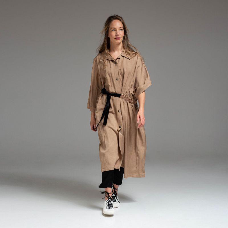 Ida Coat Dress - Sand image