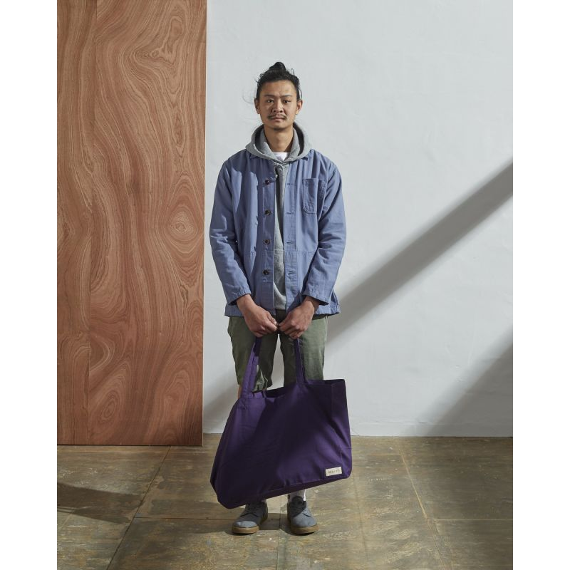 The 4001 Large Organic Tote Bag - Purple image