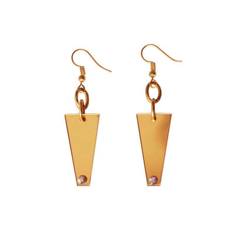 Gold Mirror Geometric Earrings image