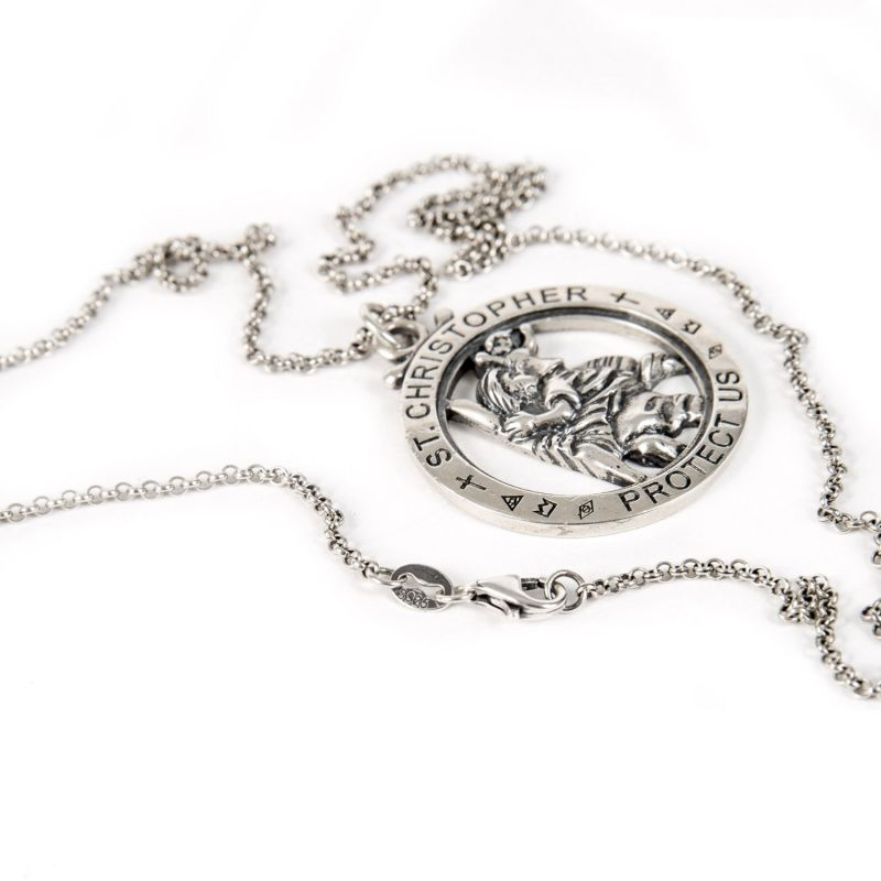 Silver St Christopher Necklace image