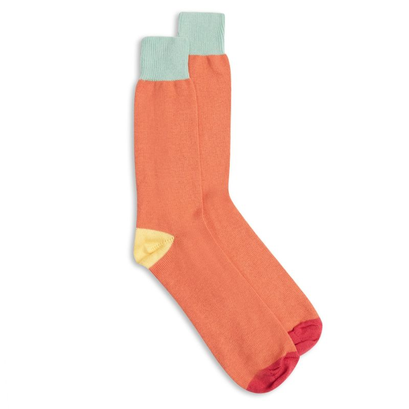 Fourway Socks - Purple, Mint & Orange image