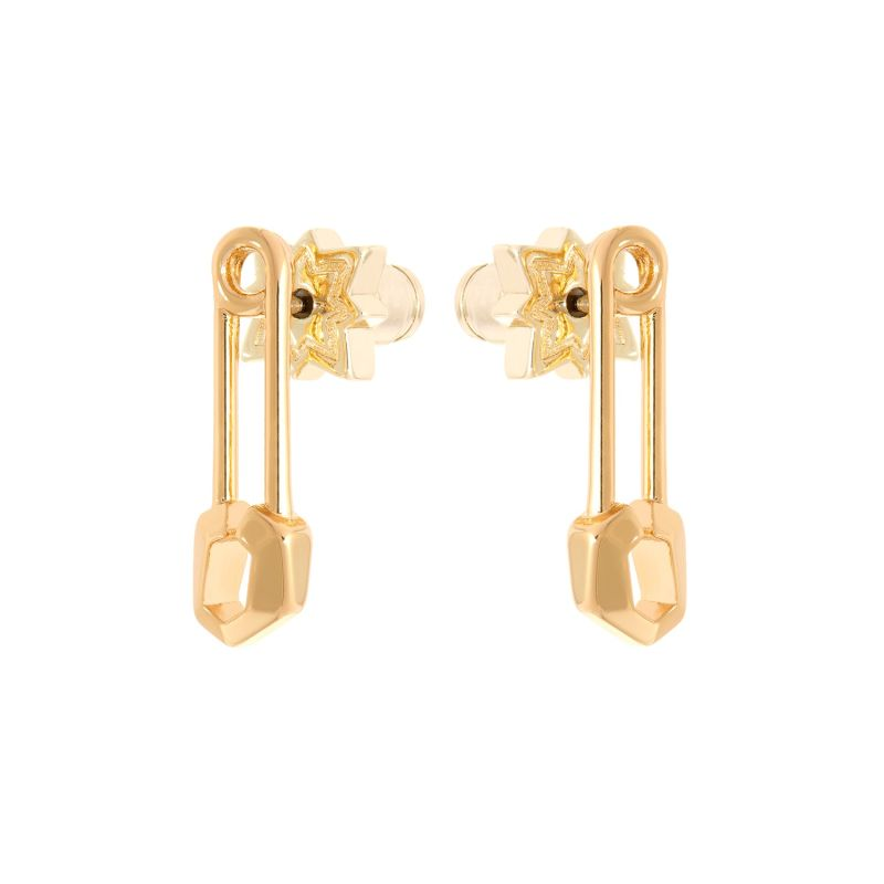 Irulan Crystal Pin Stud Earrings Plain image