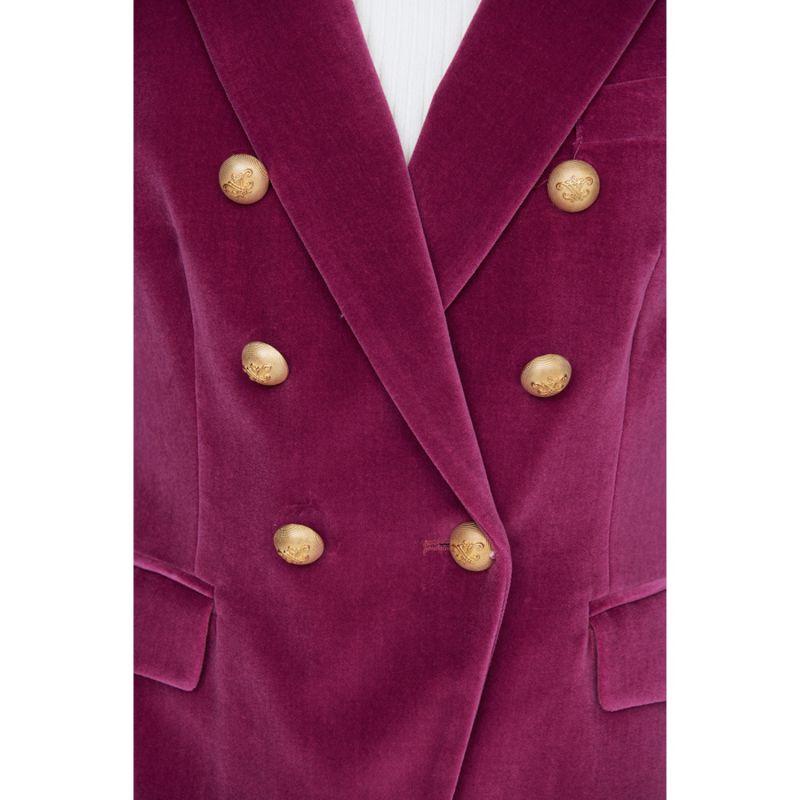 Purple Velvet Crossed Blazer Constantine image