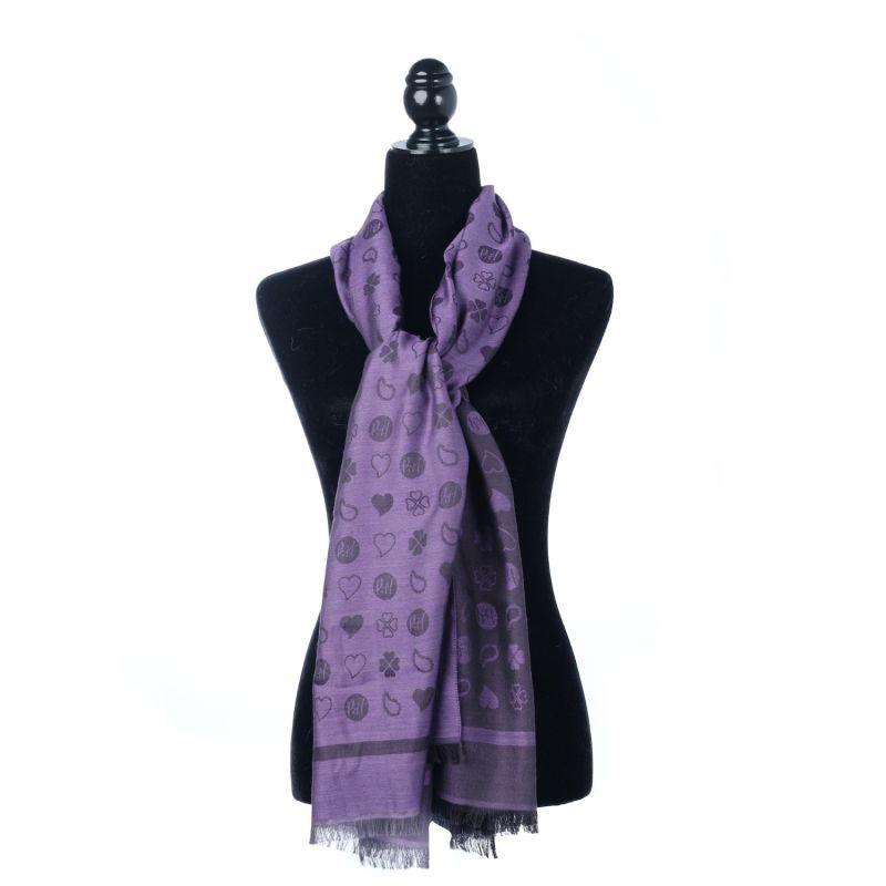 Luxury All Season Oblong Wrap Scarf Purple image