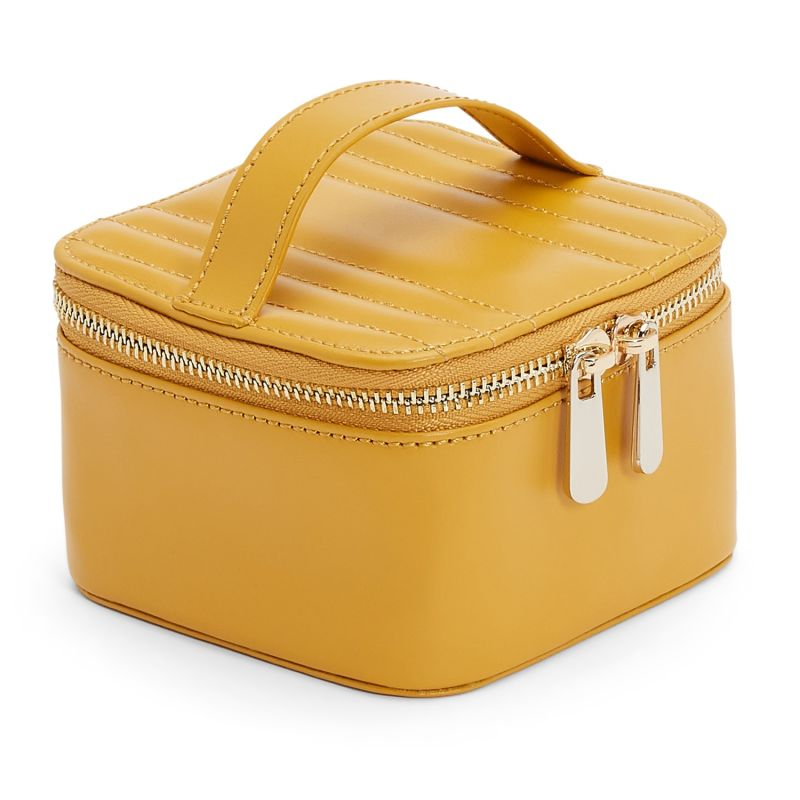 Maria Zip Jewelry Cube Mustard image