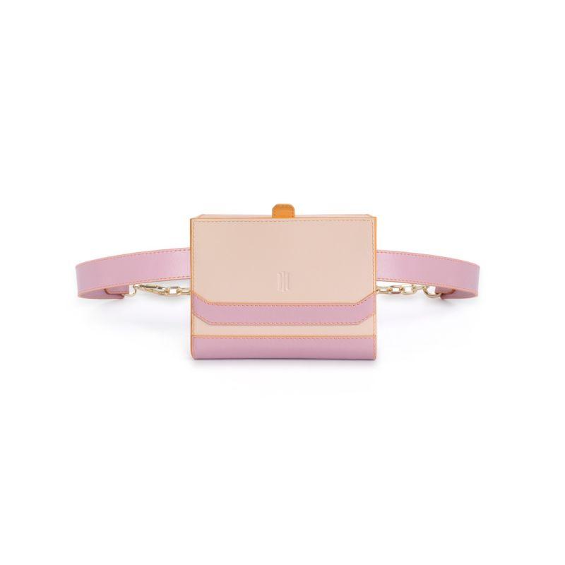 Flatiron Crossbody Bag In Orange Cassis & Nude image