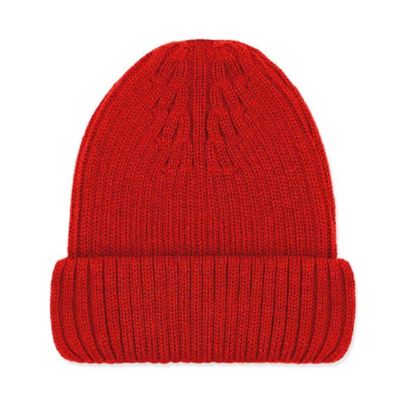 100% Extra Fine Merino Beanie Red image