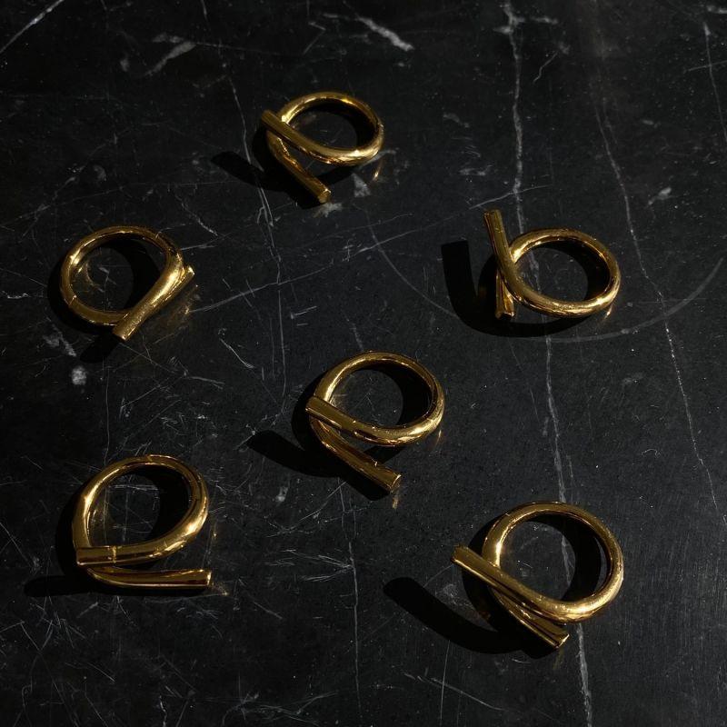 'Always On The Rocks' Bent Bar Ring image