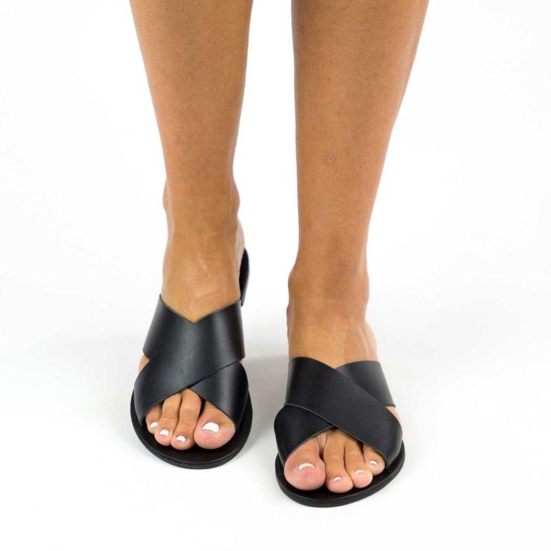 Enyo Black Leather Slide Shoe image