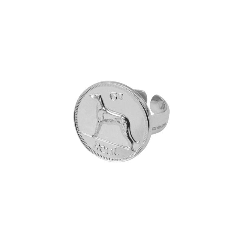 Irish 6D Adjustable Ring Silver image