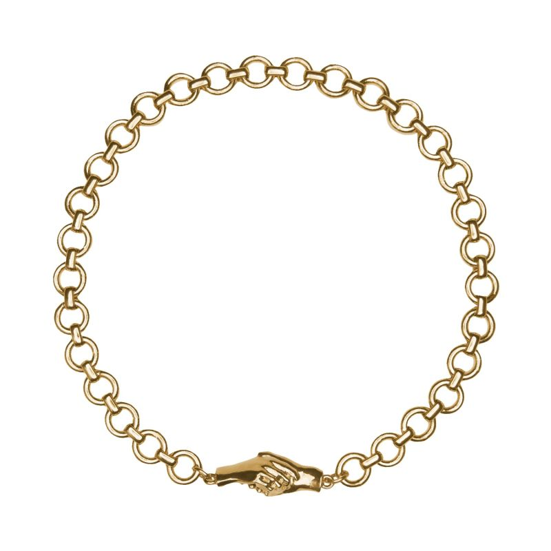 """Gentlewoman's Agreement 16"""" Choker Necklace In Gold image"""