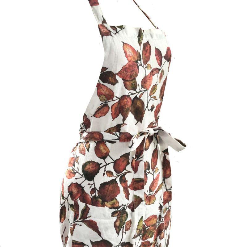 Copper Beech Printed Linen Apron image