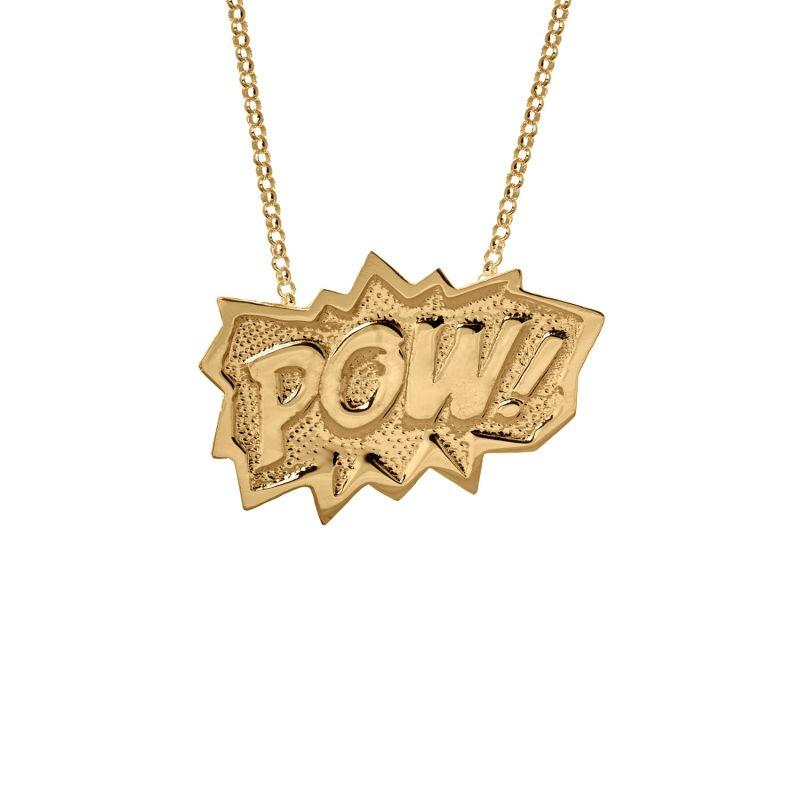 Pow Pendant XL Long In Gold image