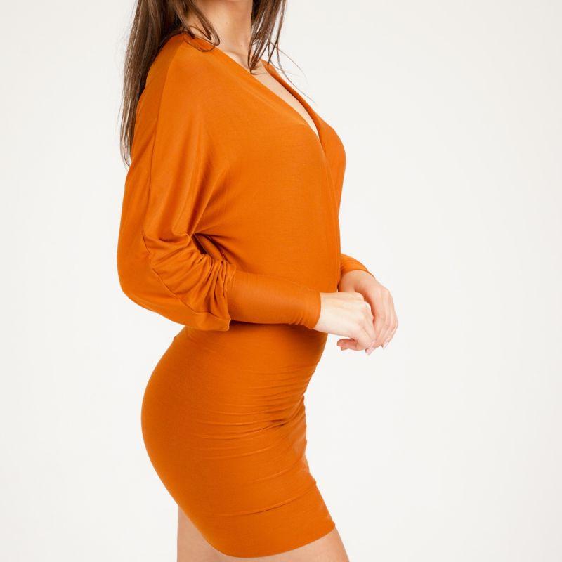 Lily Bamboo Mini Dress/Top In Burnt Orange image