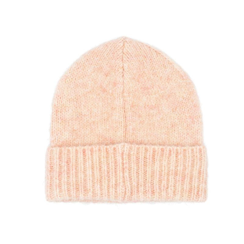 The Mohair Beanie In Natural Dusty Pink image