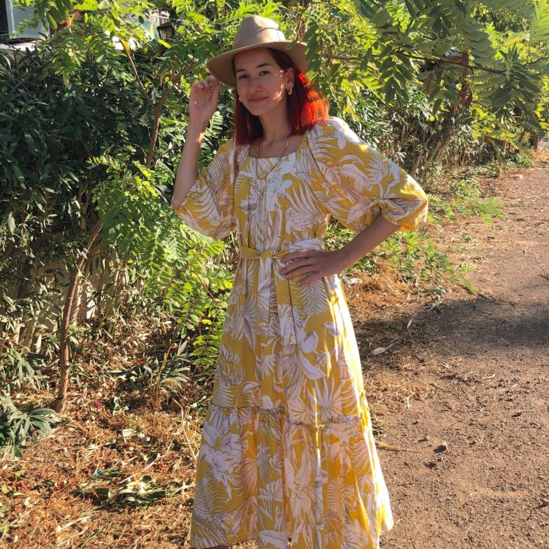 Sun Linen Maxi Dress image