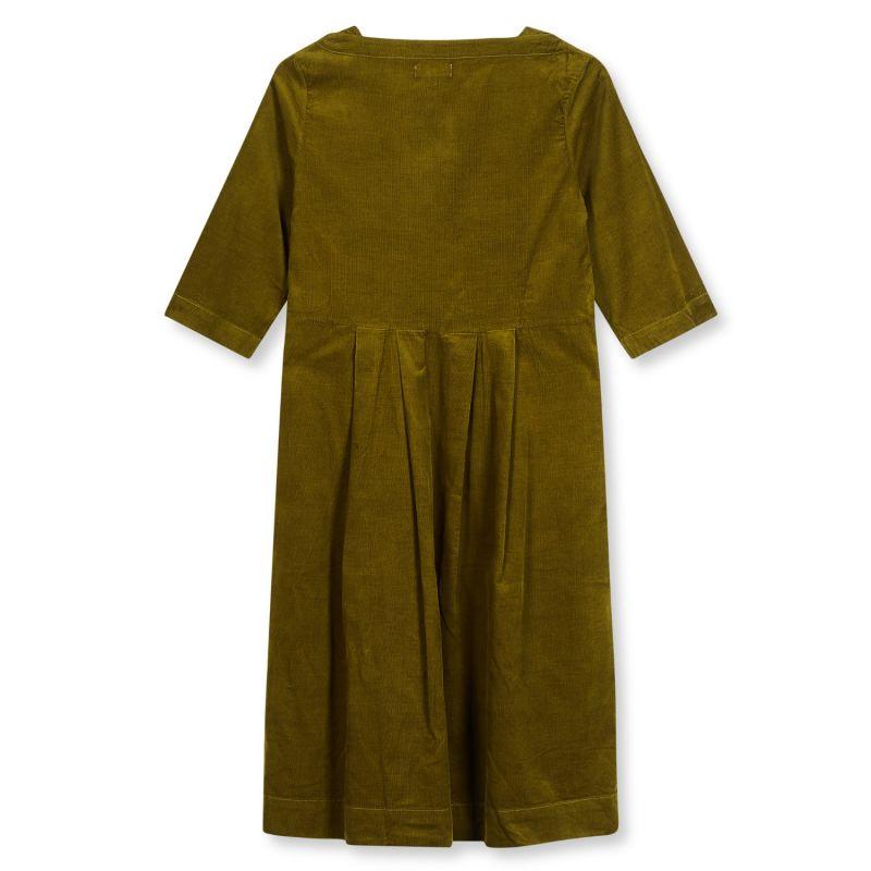 Women's Needlecord Dress - Olive Green image