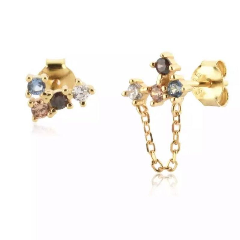 Rainbow Gold Earrings Passion image