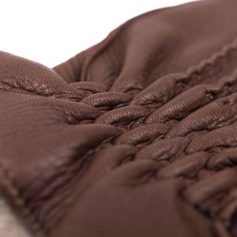 Handmade Deer Leather Gloves Brown Carlo image