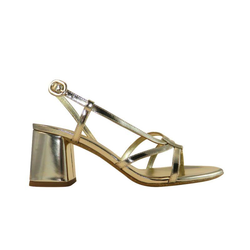 Snoh Metallic Gold Sandals image
