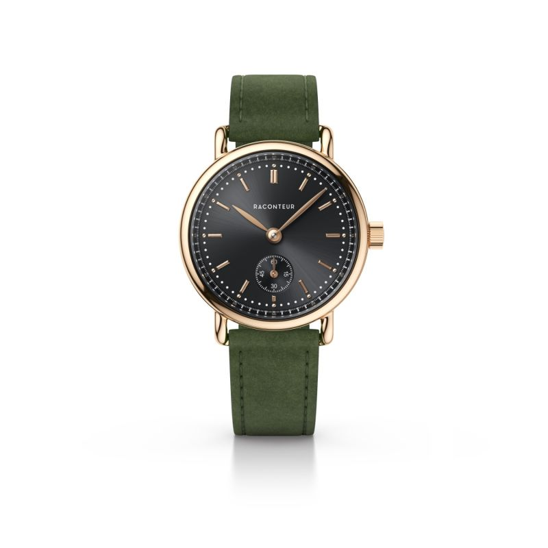 Earhart Rose Gold Grey - Emerald Suede image