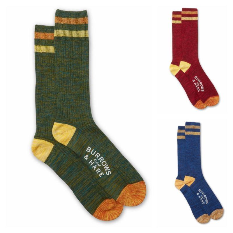 Varsity Socks - Green, Red & Blue image