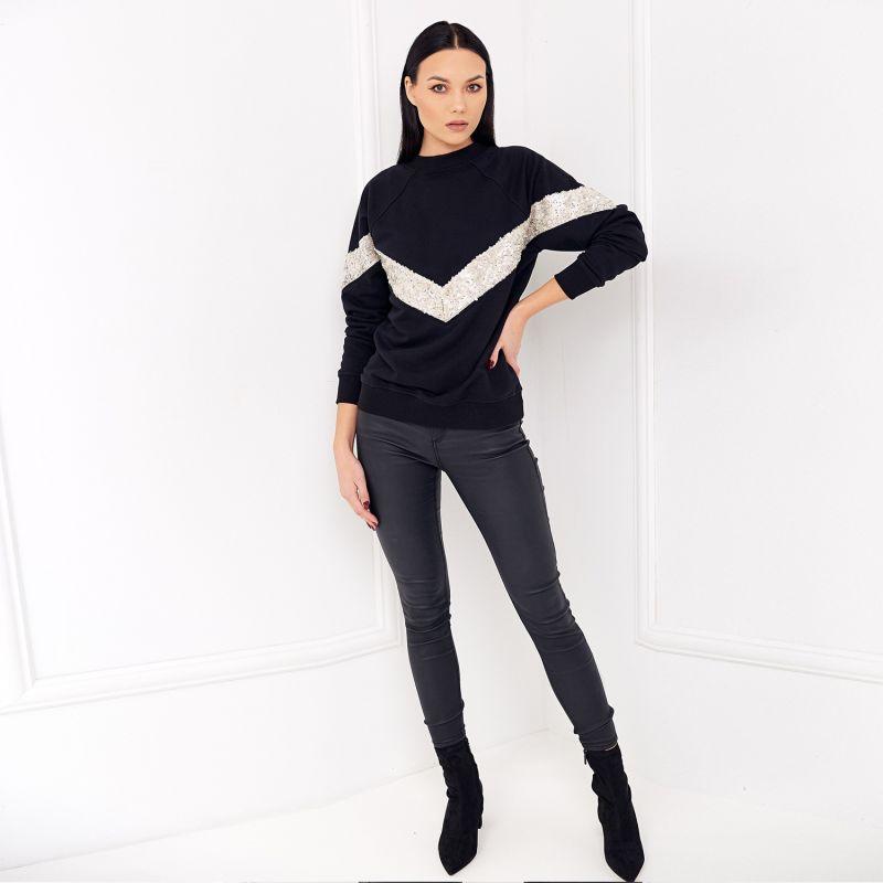 Elegant Jumper Nero with sequins image