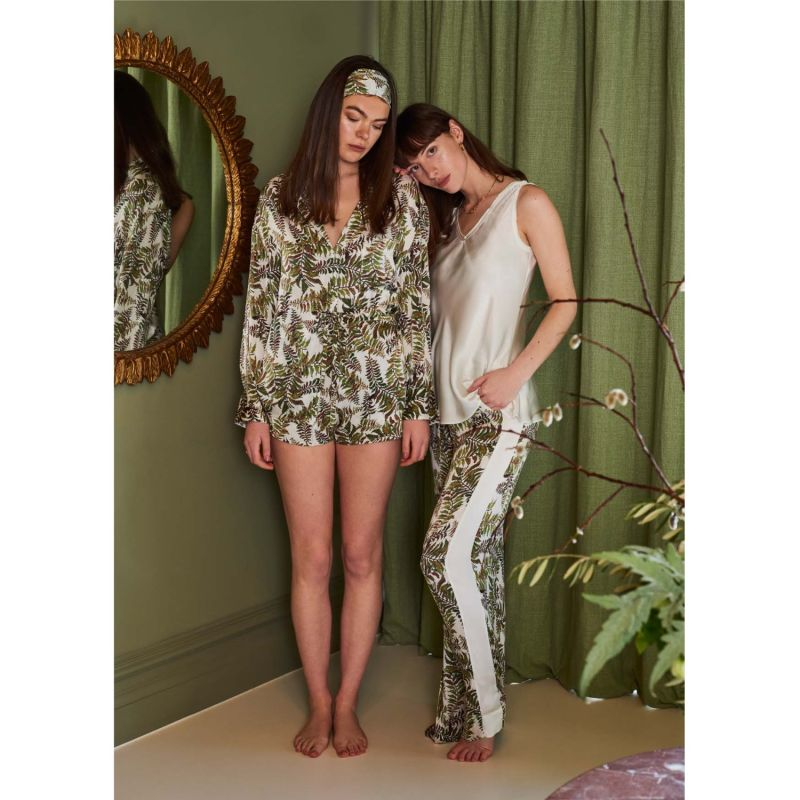 Silk Trousers In Fern In Tall image