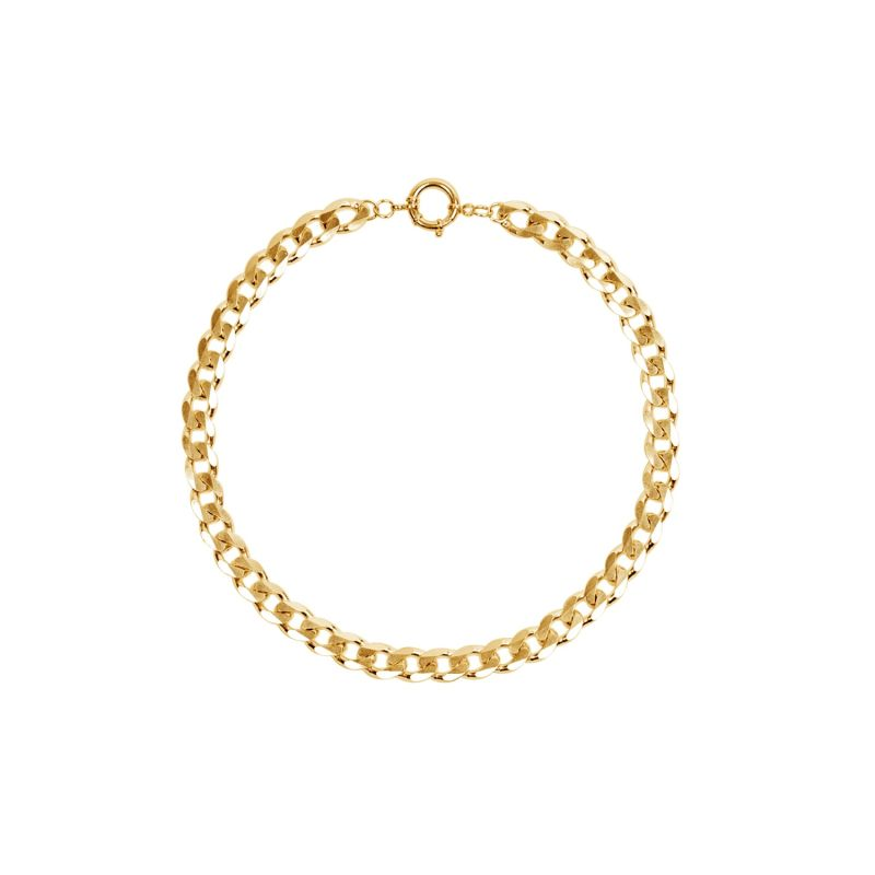 10.3Mm New Flat Chain Necklace Gold image
