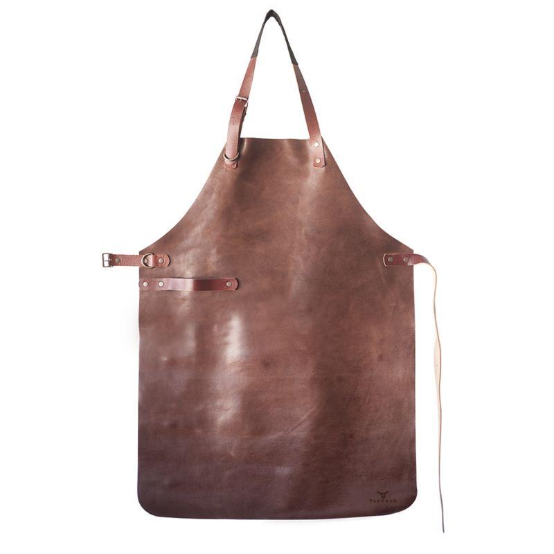 Natural Leather Apron - Cognac A image