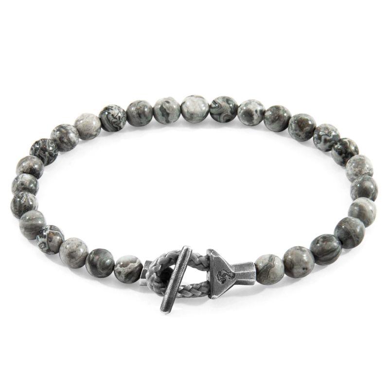 Grey Jasper Mantaro Silver & Stone Bracelet image