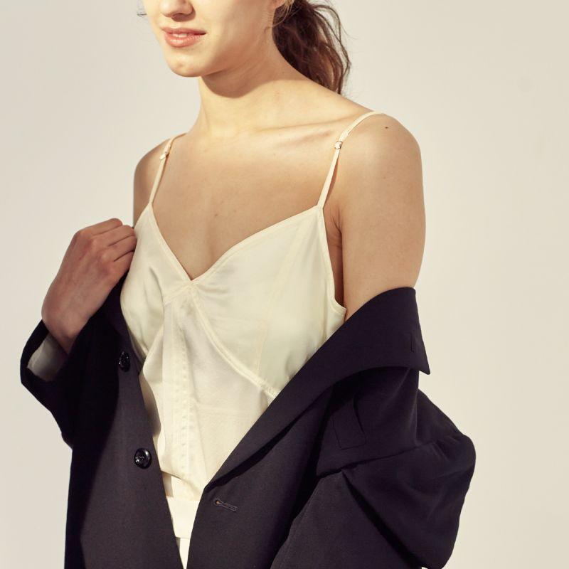No Bra - Essential Silk Slip Top Regular Price image
