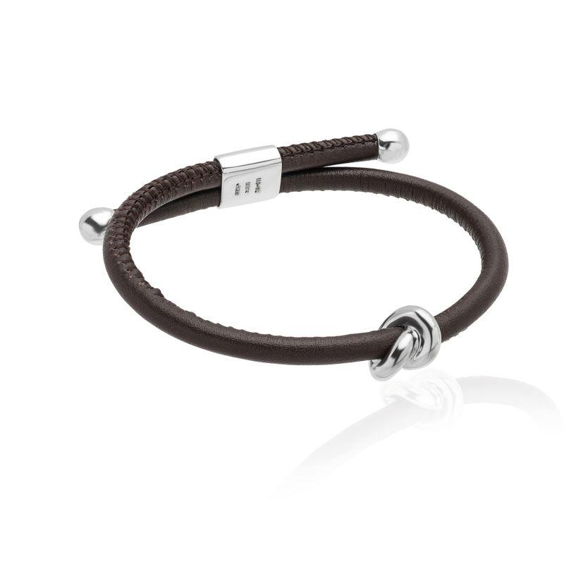 Silver & Leather Danu Bracelet image