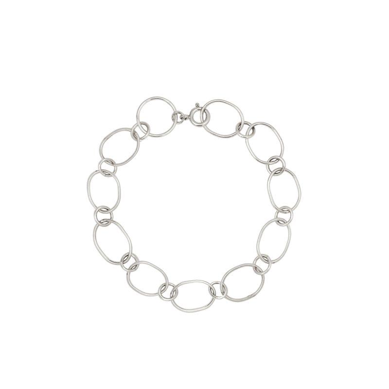 Silver Statement Link Bracelet image