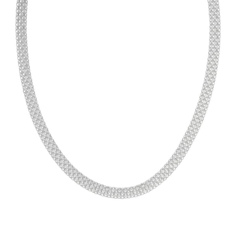 Silver Box Chain Necklace image