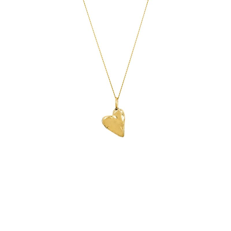 9ct Gold Handformed Heart Pendant Necklace image